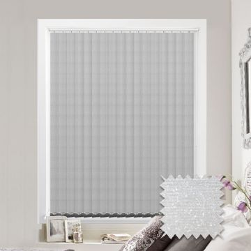 Made to Measure Sparkle White Vertical Blind